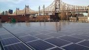 Dykes Lumber's rooftop solar installation in Long Island City near the Queensboro Bridge. Photo: Steve Burns, EnterSolar.