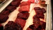 Icelandic fin whale meat on sale in Japan. Photo: EIA.