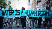 'Water is a human right!' - demonstration in Detroit. Photo: Detroit Water Brigade.