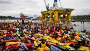 These guys aren't waiting till 2050! 'Kayaktivists' opposing Shell's plans to drill for oil in the Arctic Ocean prepare for the 'Paddle in Seattle' protest, 16th May 2015. Photo: Backbone Campaign via Flickr (CC BY).